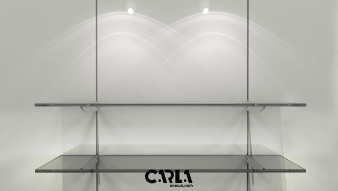 Glass Bathroom Shelves with Towel Bar